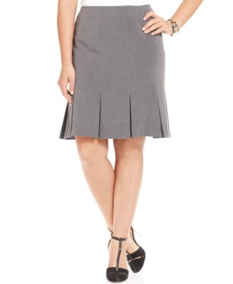 agb plus size pleated a line skirt skirts plus sizes