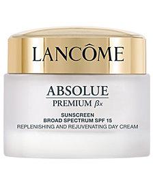 Lancôme Absolue Premium Bx SPF 15 Moisturizer Cream and Sunscreen Lotion, 1.7 oz.