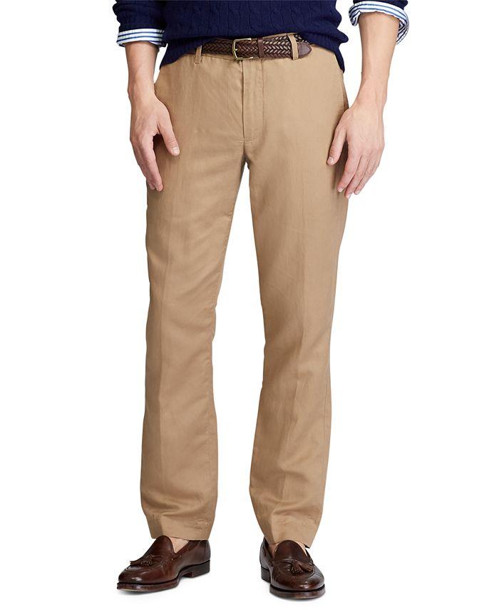 Polo Ralph Lauren - Men's Big & Tall Straight Fit Linen-Blend Pants