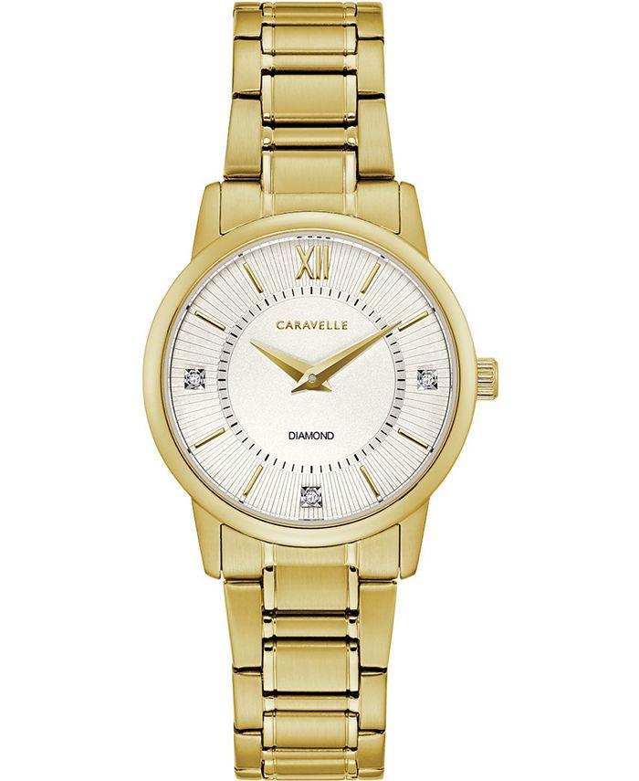 Caravelle - Women's Gold-Tone Stainless Steel Bracelet Watch 30mm