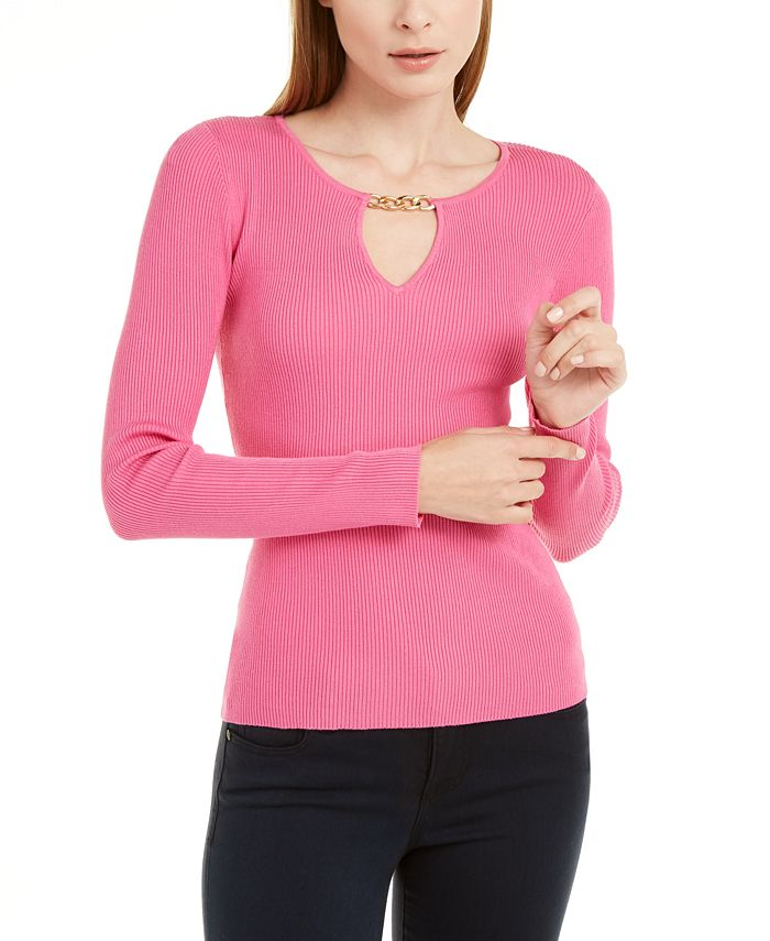 INC International Concepts - Chain-Neck Sweater