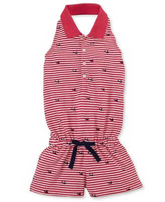 Ralph Lauren Kids Romper, Little Girls Striped Polo Romper