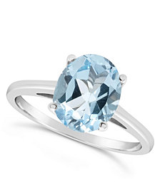 Sky Blue Topaz (3  ct. t.w.) Ring in Sterling Silver. Also Available in Rose Quartz (2-1/4 ct. t.w.)