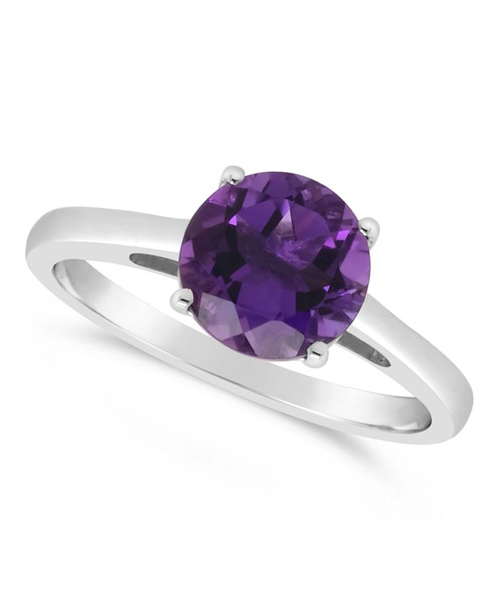 Macy's - Gemstone Ring in Sterling Silver. Available in Amethyst (1-3/4 ct. t.w.), Sky Blue Topaz (2-3/8 ct. t.w.) and Rose Quartz (1-9/10 ct. t.w.)
