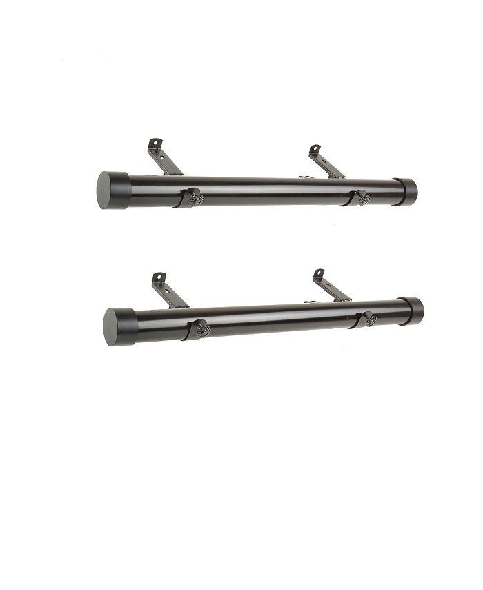 """Rod Desyne - 1.5""""  Side Curtain Rod 12-20 inch (Set of 2)"""