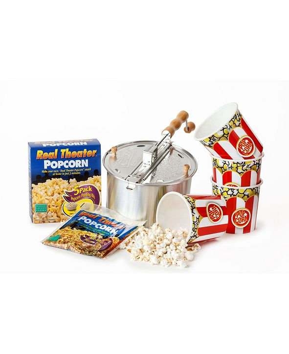 Wabash Valley Farms Whirley-Pop Popcorn Popper Starter Set