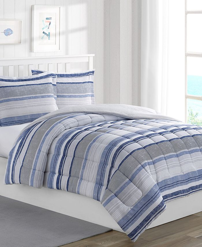 Mytex - Chase Stripe Reversible Comforter Set
