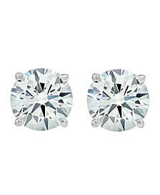 3 ct. t.w. Lab Grown Diamond Studs in 14k White Gold