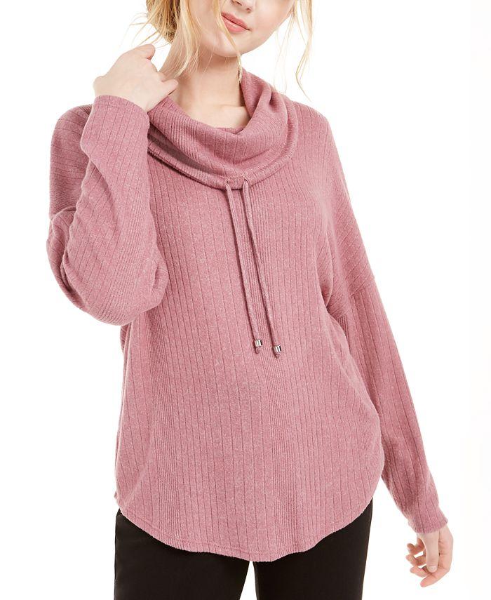 BCX - Juniors' Cowl-Neck Dolman-Sleeved Sweater