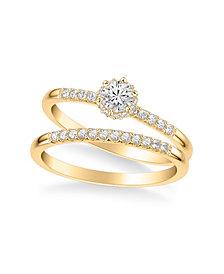 Diamond Bridal Set (3/8 ct. t.w.) in 14k Yellow, White or Rose Gold