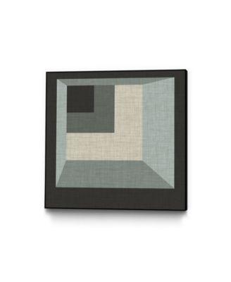 "30"" x 30"" Geometric Perspective I Art Block Framed Canvas"