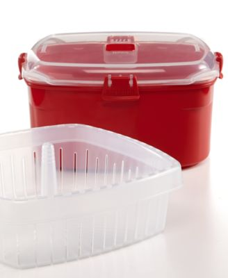 Martha Stewart Collection 10.1-Cup Medium Food Storage Container with Steamer