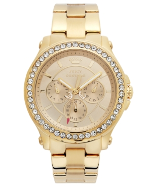 Juicy Couture Watch, Women's Pedigree Gold-Tone Stainless Steel Bracelet 38mm 1901049