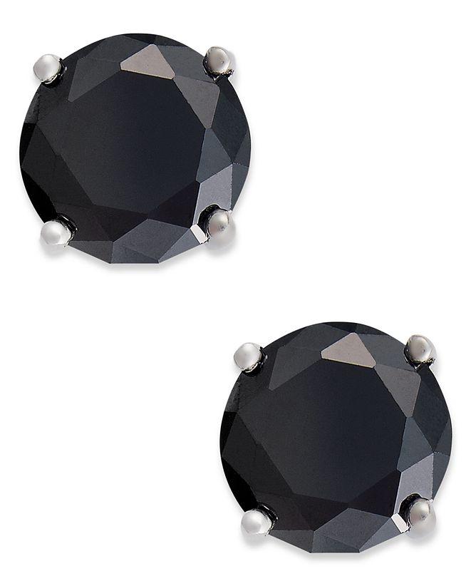 Giani Bernini Sterling Silver Earrings, Black Cubic Zirconia Stud Earrings (1 ct. t.w.)