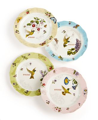 Closeout portmeirion dinnerware set of 4 botanic for Portmeirion dinnerware set of 4 botanic garden canape plates