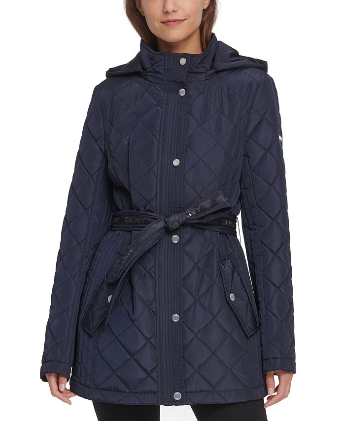 DKNY - Belted Quilted Jacket
