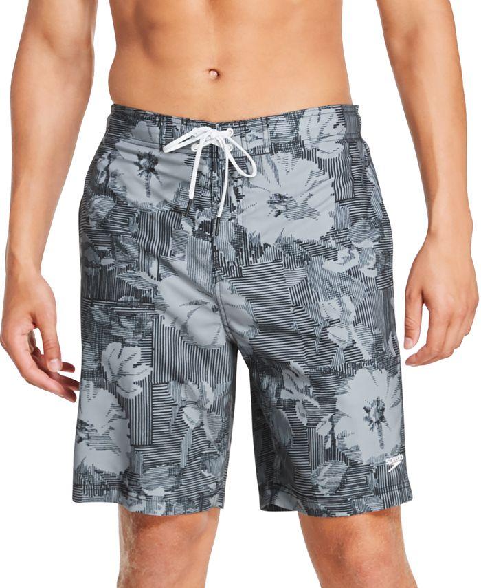 Speedo - Men's Bondi Ombré Gradient Floral 2-Way Stretch UPF 50+ Board Shorts