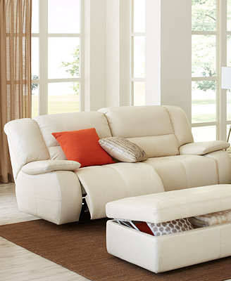 Nina Leather Sofa Living Room Furniture Collection, Power