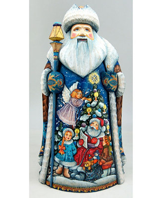 G Debrekht Woodcarved And Hand Painted Christmas Play Tree Santa Figurine Christmas Décor Reviews Shop All Holiday Home Macy S