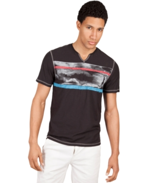 Marc Ecko Cut  Sew Shirt My NY Sky Stripe TShirt
