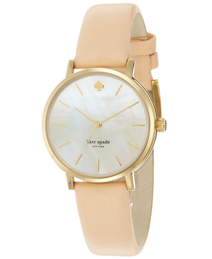 kate spade new york - Women's Metro Vachetta Leather Strap Watch 34mm 1YRU0073