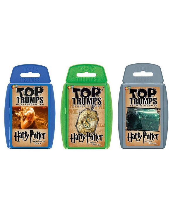 Top Trumps Card Game Bundle - Harry Potter II - Later Stories Half Blood Prince, Deathly Hallows Part 1, Deathly Hallows Part 2