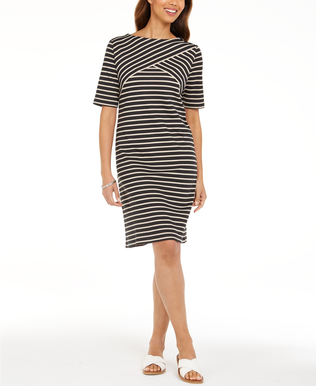 Striped Shift Dress, Created for Macy's