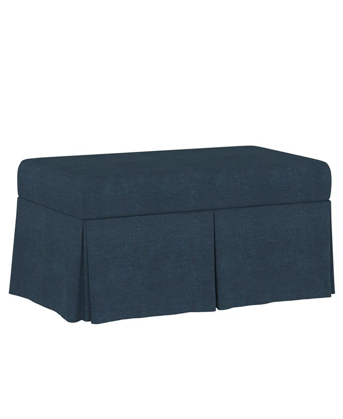 Martha Stewart Collection - Lily Pond Collection Skirted Storage Bench, Quick Ship