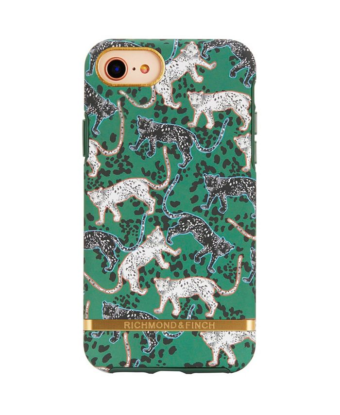 Richmond&Finch - Green Leopard Case for iPhone 6/6s, 7 and 8