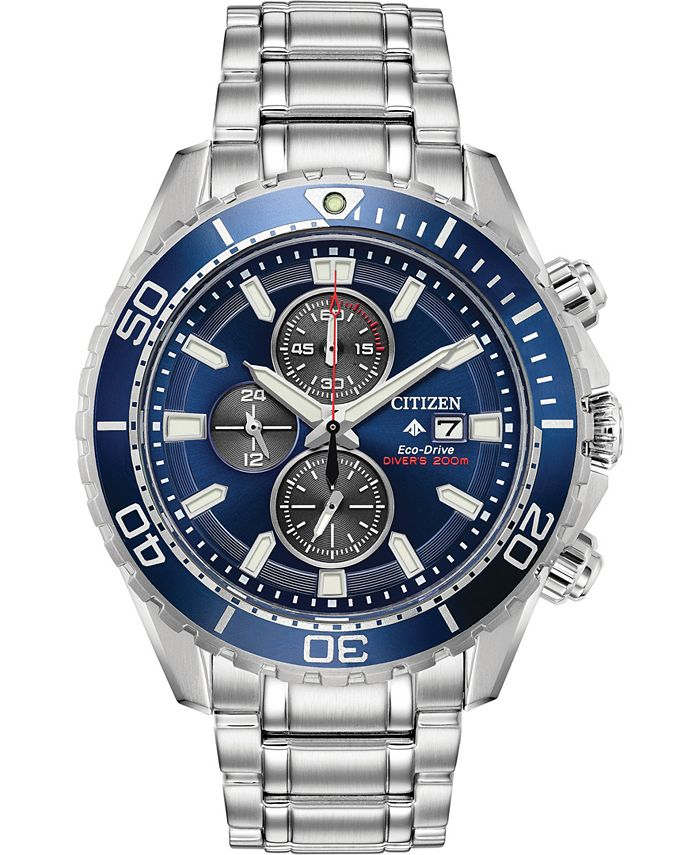 Citizen - Men's Chronograph Promaster Diver Stainless Steel Bracelet Watch 46mm