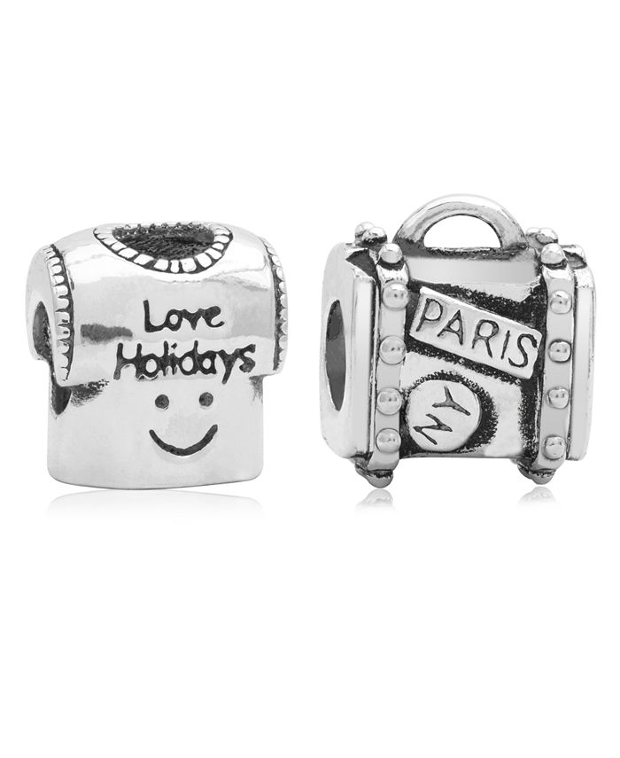 Rhona Sutton - Children's Holiday Travels Bead Charms - Set of 2 in Sterling Silver