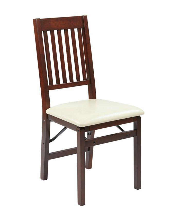 Office Star - Hacienda Folding Chair, Quick Ship (Set of 2)