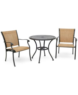 "Beachmont II Outdoor 3-Pc. Dining Set (32"" Round Bistro Table and 2 Dining Chairs), Created for Macy's"
