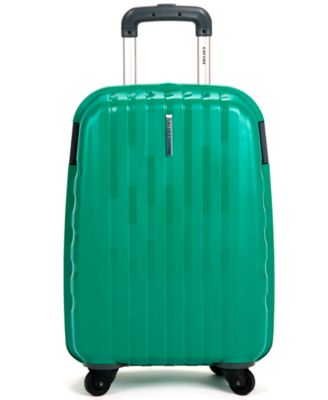 """Delsey Helium Colours 21"""" Carry On Hardside Spinner Suitcase"""