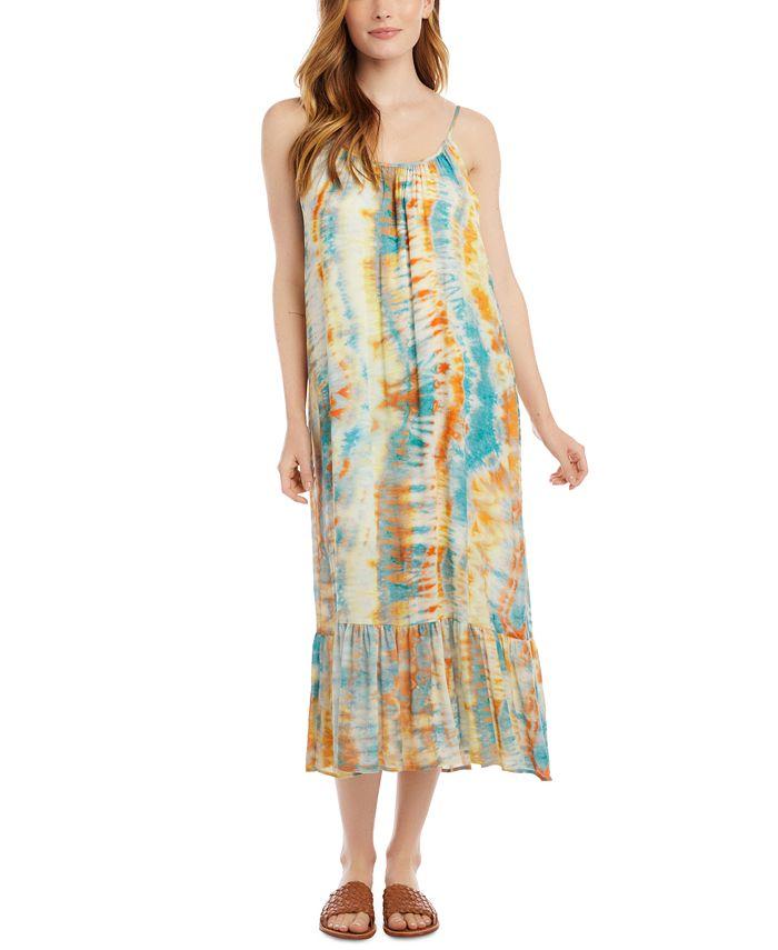 Karen Kane - Tie-Dye Ruffle Hem Dress