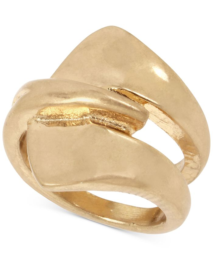 Robert Lee Morris Soho - Gold-Tone Sculptural Layered Ring