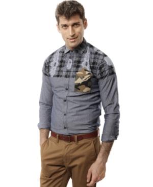 Marc Ecko Cut  Sew Shirt The Complex LongSleeve Printed