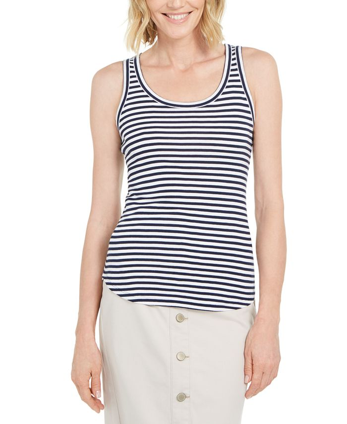 Charter Club - Knit-Stripe Tank