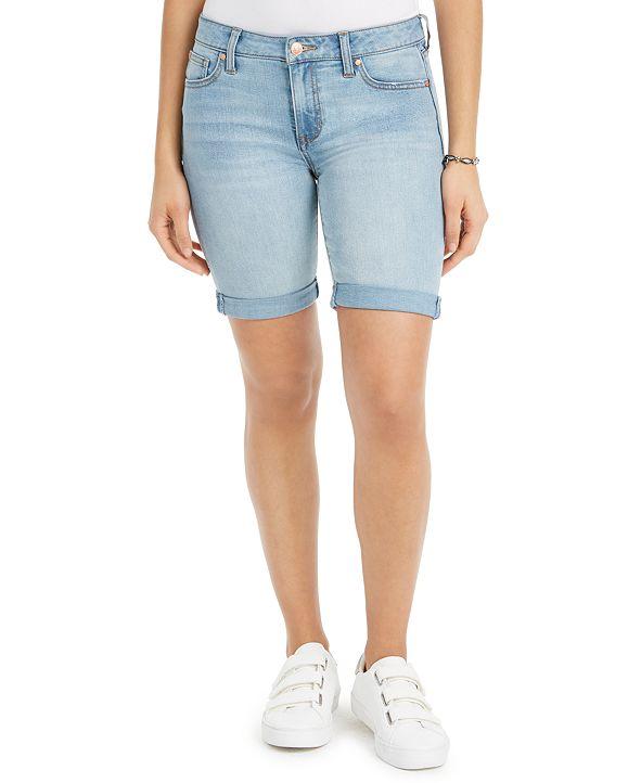 Celebrity Pink Juniors' Cuffed Bermuda Shorts