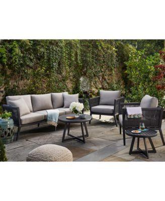 Braxtyn Outdoor Swivel Chair with Sunbrella® Cushions, Created for Macy's