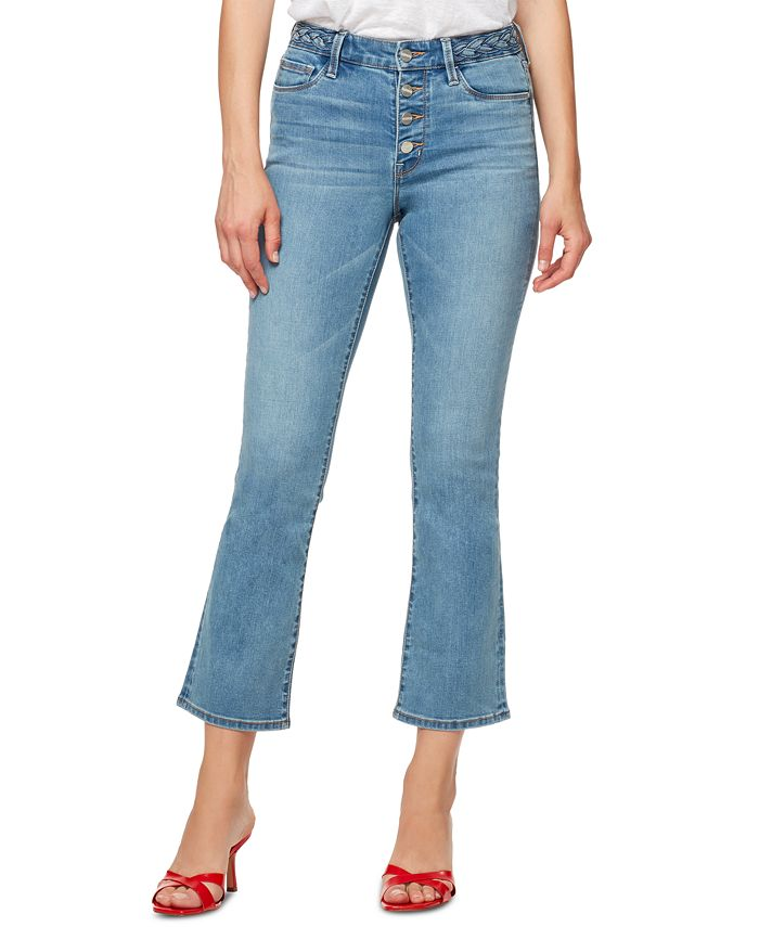 Sanctuary - Braided-Waist Cropped Jeans
