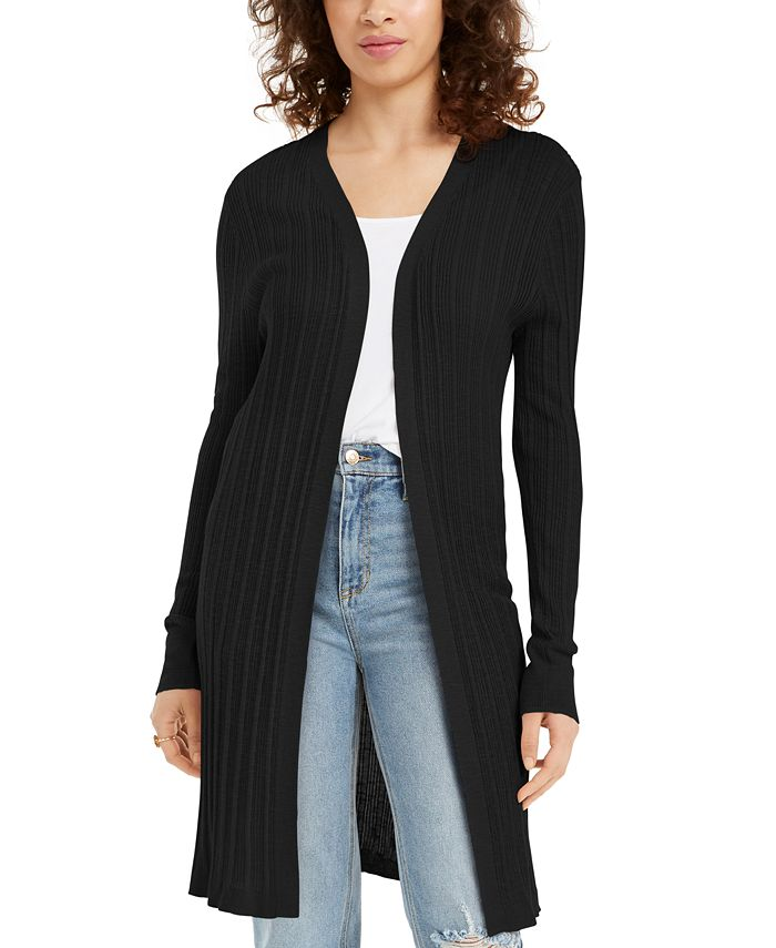 Hooked Up by IOT - Juniors' Ribbed Open-Front Cardigan