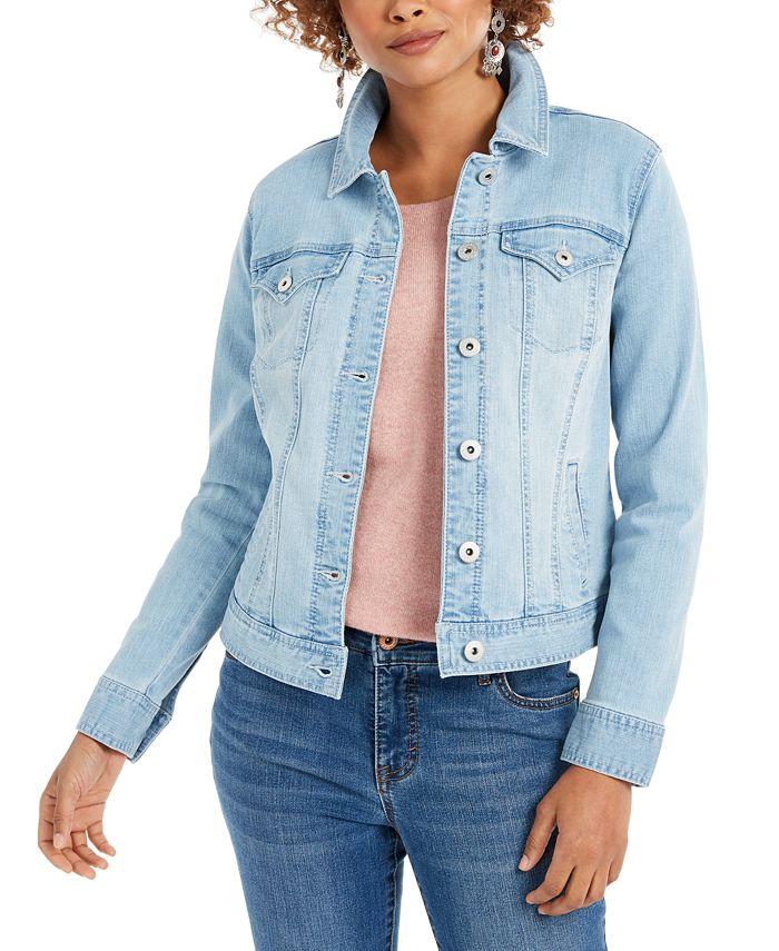 Style Co Denim Jacket Created For Macy S Reviews Jackets Blazers Women Macy S