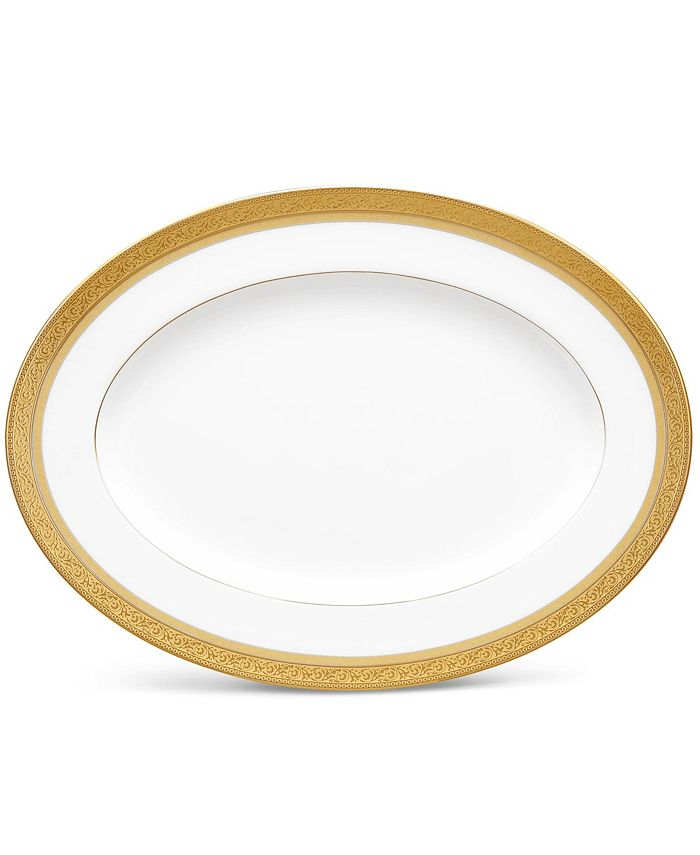 "Noritake - Summit Gold Oval Platter, 12"""
