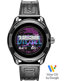 Diesel Men's Fadelite Black Transparent Polyurethane Strap Touchscreen Smart Watch 44mm