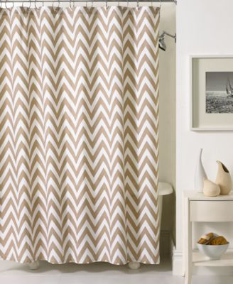 Kassatex Bath Accessories, Chevron Shower Curtain