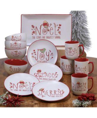 Holiday Greetings 4-Pc. Ice Cream Bowls
