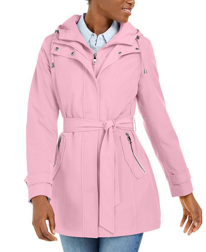 Nautica - Hooded Belted Raincoat