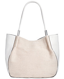 Alfanie Bangle Linen Tote, Created for Macy's