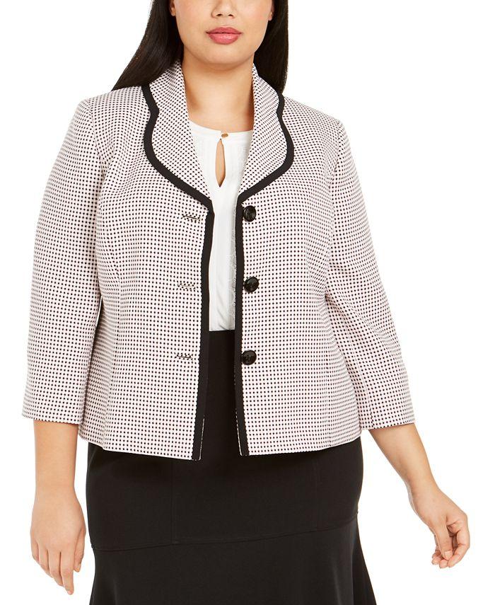 Le Suit - Plus Size Three-Button Skirt Suit